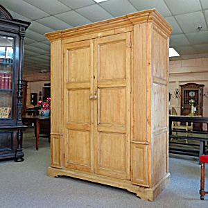 19th century irish antique pine armoire all english. Black Bedroom Furniture Sets. Home Design Ideas
