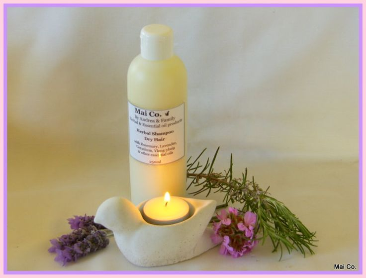 Mai Co Dry Hair Shampoo. A good shampoo to help balance the excessive dryness without leaving your hair feeling oily! With Lavender, Rosemary and Rose Geranium Essential Oils