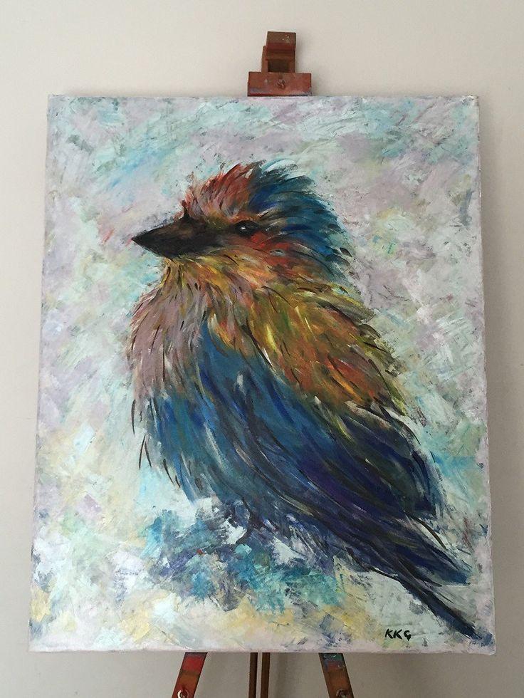 10 Best African Bird Art Wildlife Paintings In Acrylics