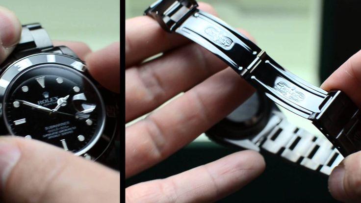 http://www.couture-watch.ch - Die Rolex Submariner mit DLC Beschichtung in schwarz. Diamond like Carbon Coationg ist bei Uhren auch als ADLC bekannt und härter als PVD black.