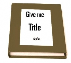 Title is most important part of any blog. The first thing people read on your blog is Title. If you have catchy title, you may get more visits....