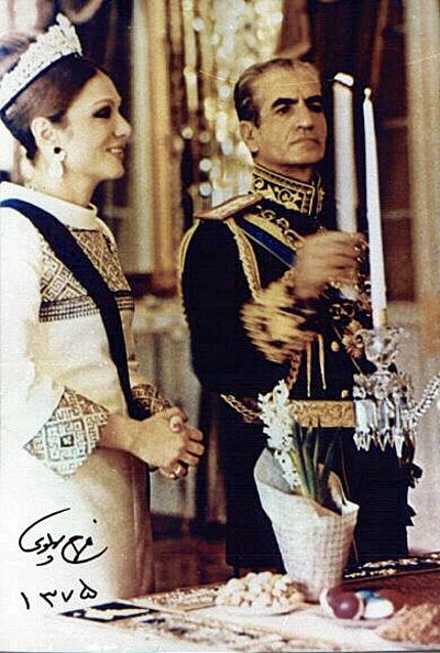 Shah and Shahbanu of Iran on Nowruz Persian New Year