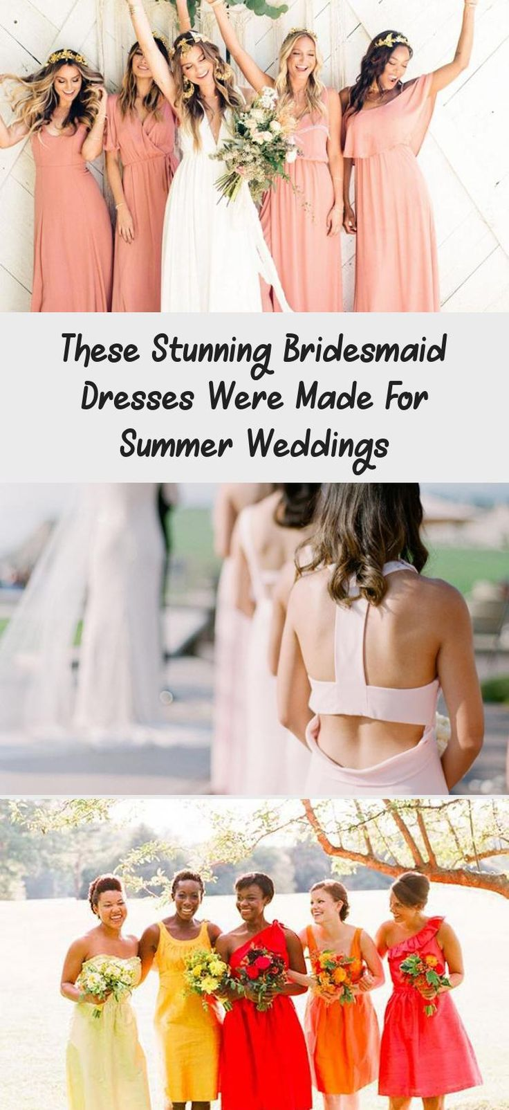 The Most Stunning Summer Bridesmaid Dresses Of 2018 #BridesmaidDressesCoral #IvoryBridesmaidDresses #PlumBridesmaidDresses #BridesmaidDressesBlue #MaroonBridesmaidDresses