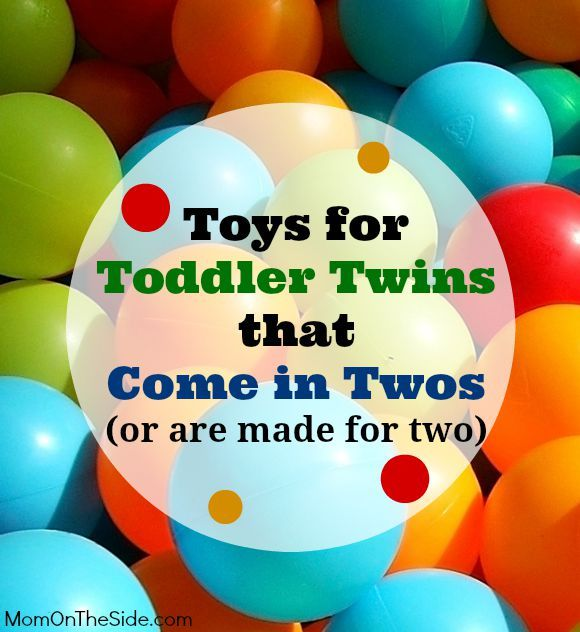 Toys for Toddler Twins that Come in Twos or are built for two to play with at the same time! These toys make great birthday gifts for twins.