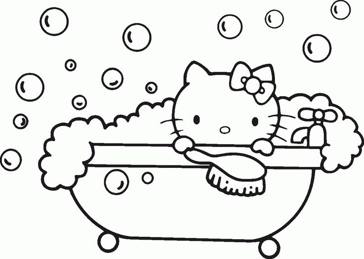 Hello Kitty Coloring Page Free Printable