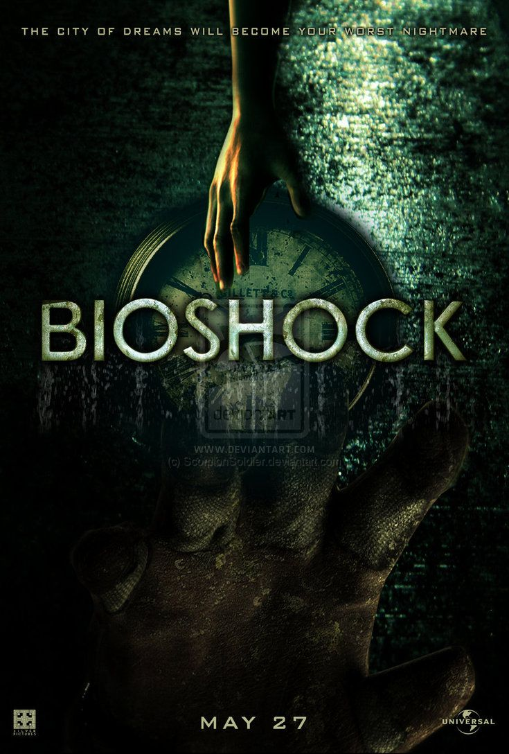 Poster design game - Bioshock Movie Poster 2 If Only This Were Real