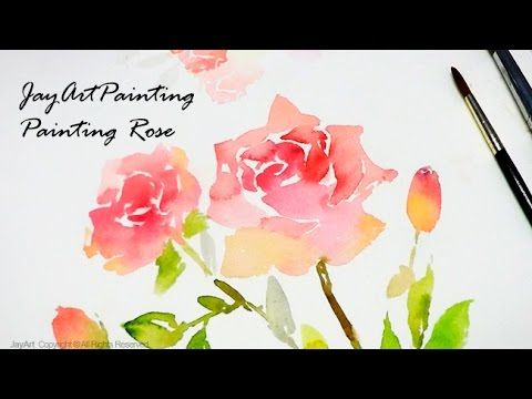 Painting Flowers : How to Paint Roses in Watercolor - Level 4
