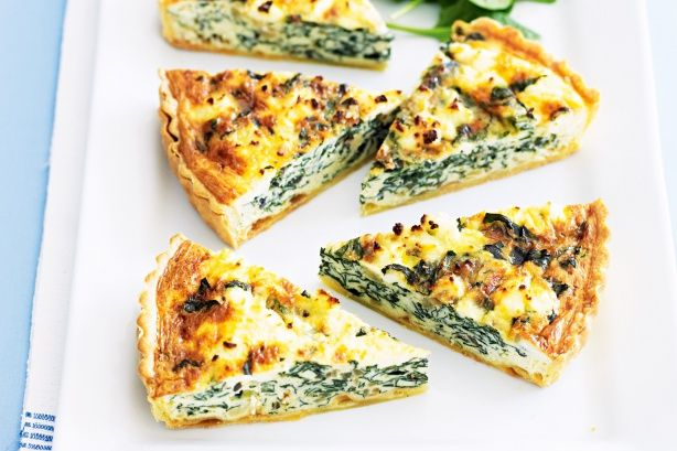 Silverbeet and ricotta quiche: http://www.taste.com.au/recipes/23121/silverbeet+and+ricotta+quiche: