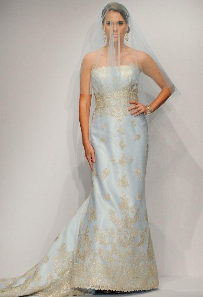 Love this Blue wedding dress!! Matthew Christopher Spring 2014 Wedding Dresses