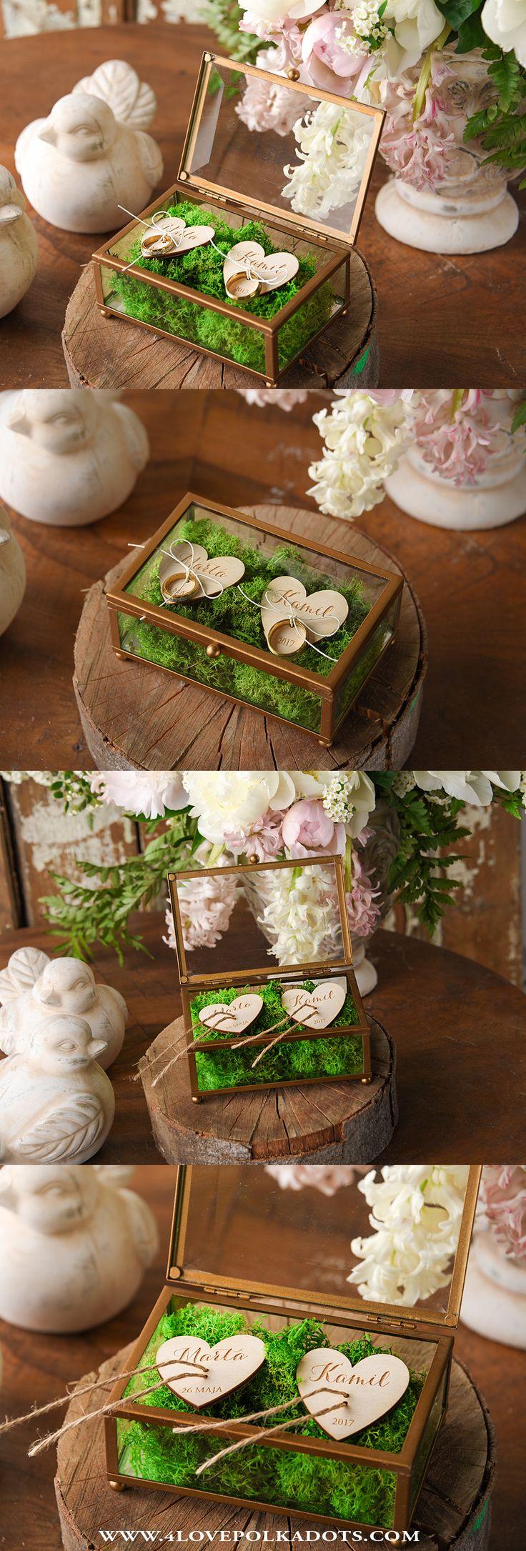 Unique Glass Wedding Ring Box #boho #weddingideas