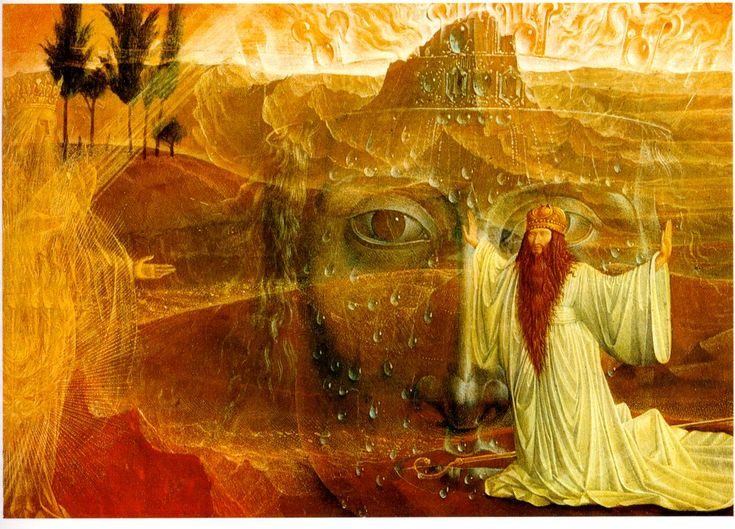 Moses and the Burning Bus by Ernst Fuchs