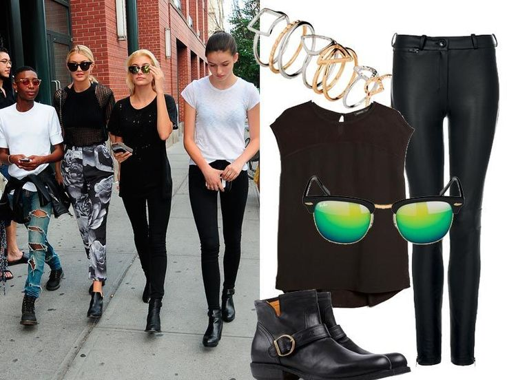 È la divisa d'ordinanza degli addetti ai lavori: jeans aderenti, T-shirt larga, stivaletti e occhiali scuri. Tutto nero ovviamente.