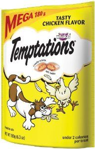 Whiskas Temptations Tartar Control Tasty Chicken Flavour Treats for Cats, 6.3-Ounce Pouches (Pack of 10):Cat gift,  Cat Treats