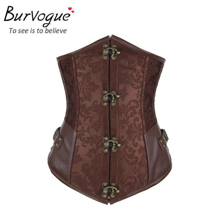 2014 new style brown/black steel bone corsets dobby corselets underbust waist training slim bustiers sexy embroidery cincher alishoppbrasil