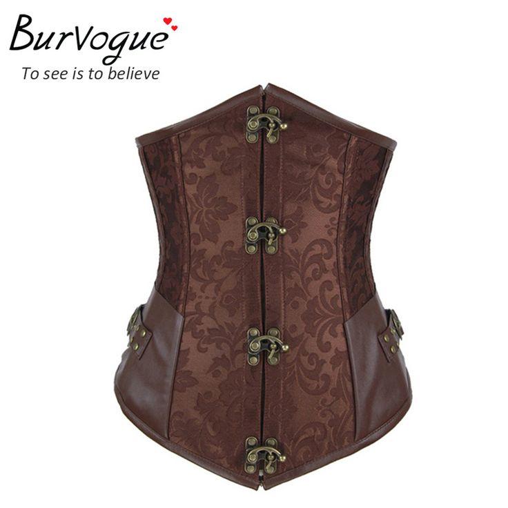 2014 new style brown/black steel bone corsets dobby corselets underbust waist training slim bustiers sexy embroidery cincher alishoppbrasil