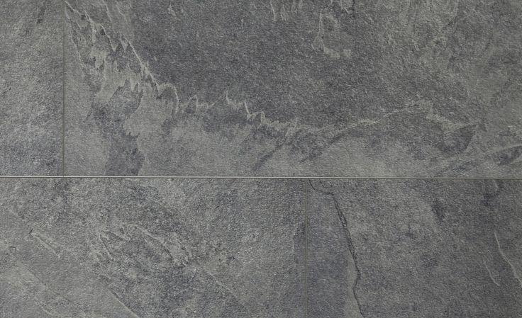 Sol vinyle LIVYN² CLIC DALLE, ardoise grise, dalle 32 x 130 cm - Sol Vinyle - Collection Sol - Saint Maclou
