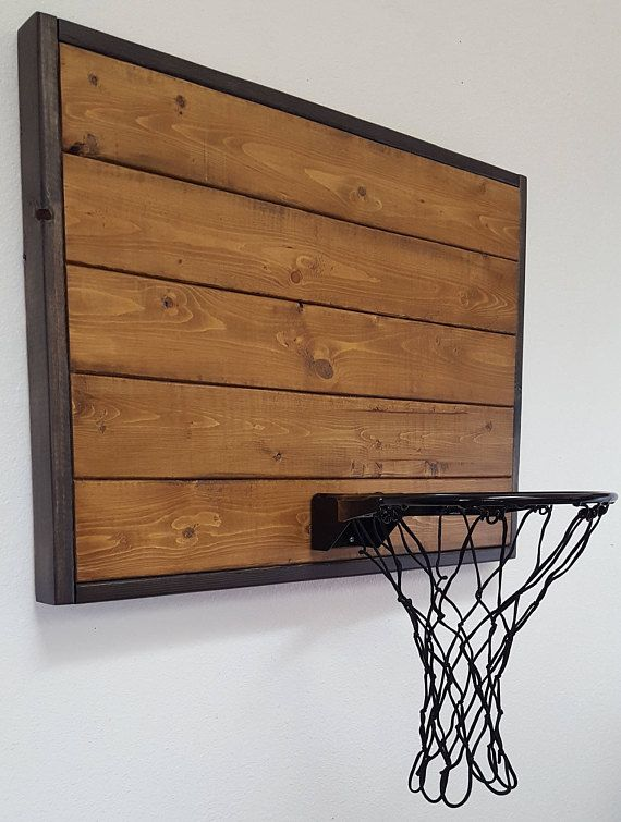 Wall Mount Basketball Hoop Indoor Wood Basketball Hoop Office Basketball Hoop Rustic Basketball Hoop Kids Basketball Sports Gift Basketball Room Basketball Bedroom Boys Bedroom Decor
