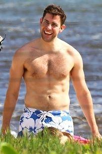 John Krasinski Hanging Out Shirtless Will Quadruple Your Love For Him
