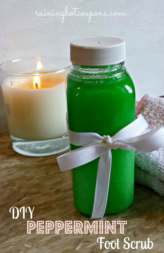 DIY Peppermint Foot Scrub (Perfect for Holiday Gifts!)