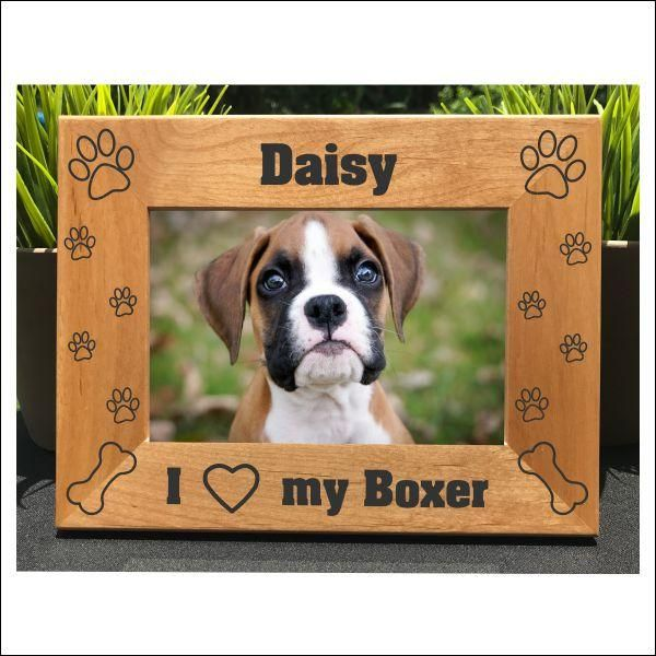 I Love my Boxer // Personalized Engraved Photo Frame // Picture Frame // Gift