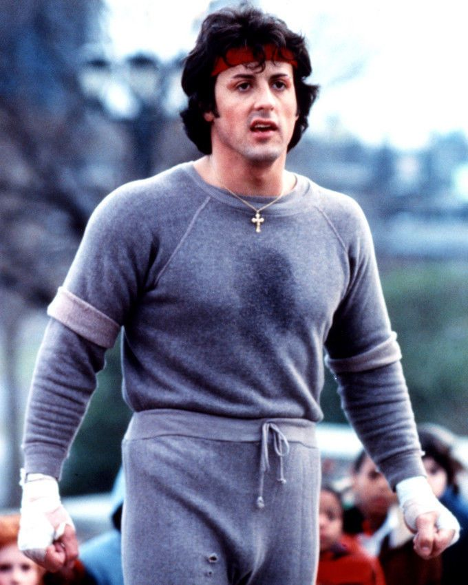 Sylvester Stallone Color Rocky Jogging Photo