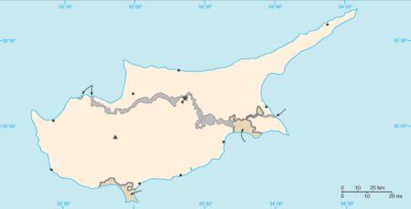Ciprus elhelyezkedése