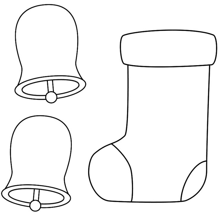 christmas stocking coloring page/pattern for activity ...