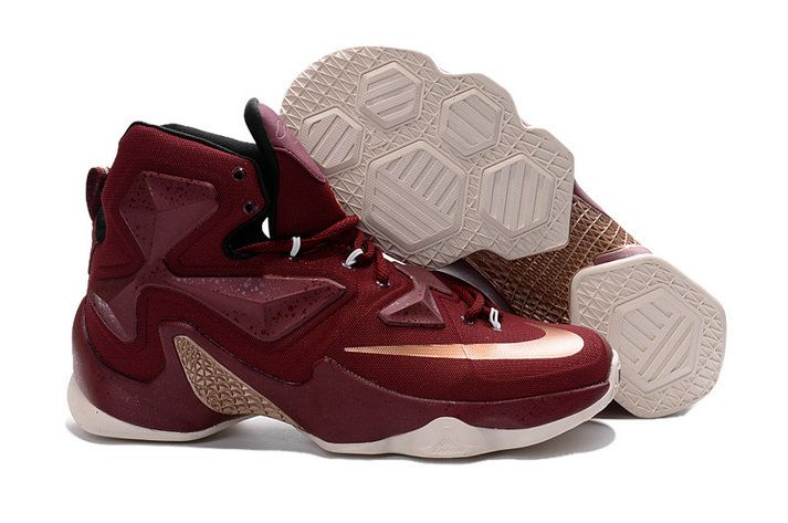 Chaussures Nike Lebron 13 Iii Cavs Wine Cleveland Cavaliers Away Or Discount
