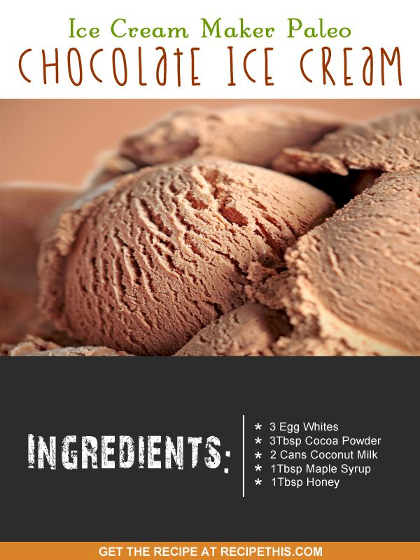 Ice Cream Maker Recipes | Ice Cream Maker Paleo Chocolate Ice Cream - if you're on Paleo or if you just want a really delicious healthy ice cream then it doesn't get any better than this!
