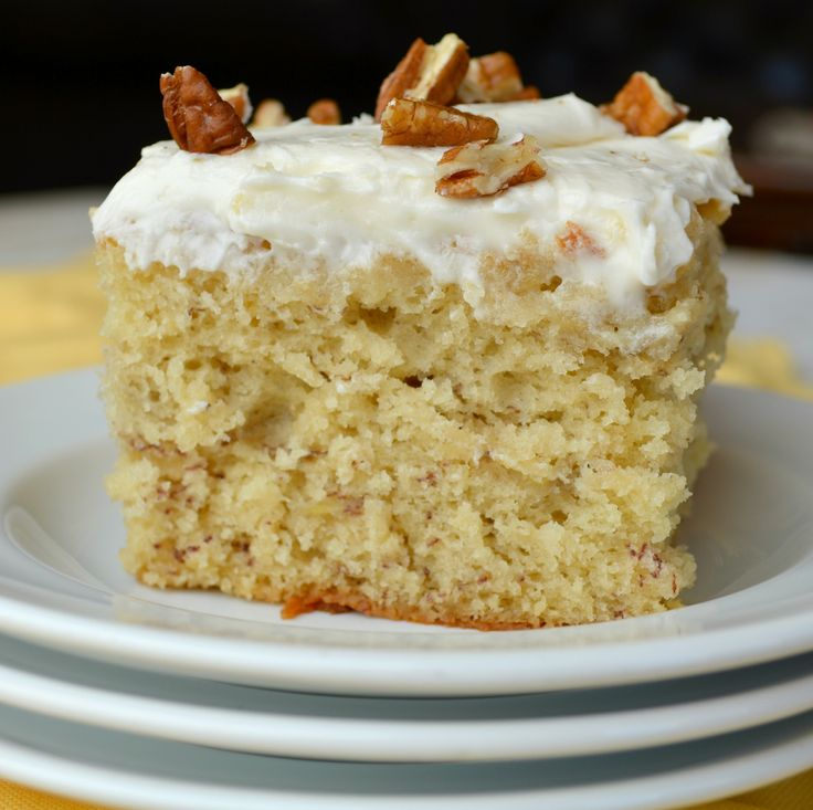 Banana Cake with Cream Cheese Frosting