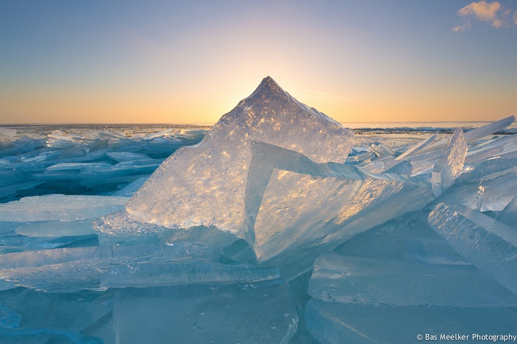 Shining ice - Lake IJsselmeer, Hindeloopen, The Netherlands by Bas Meelker, via 500px
