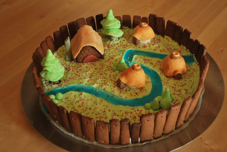 Asterix village cake for my boy's 5th birthday!