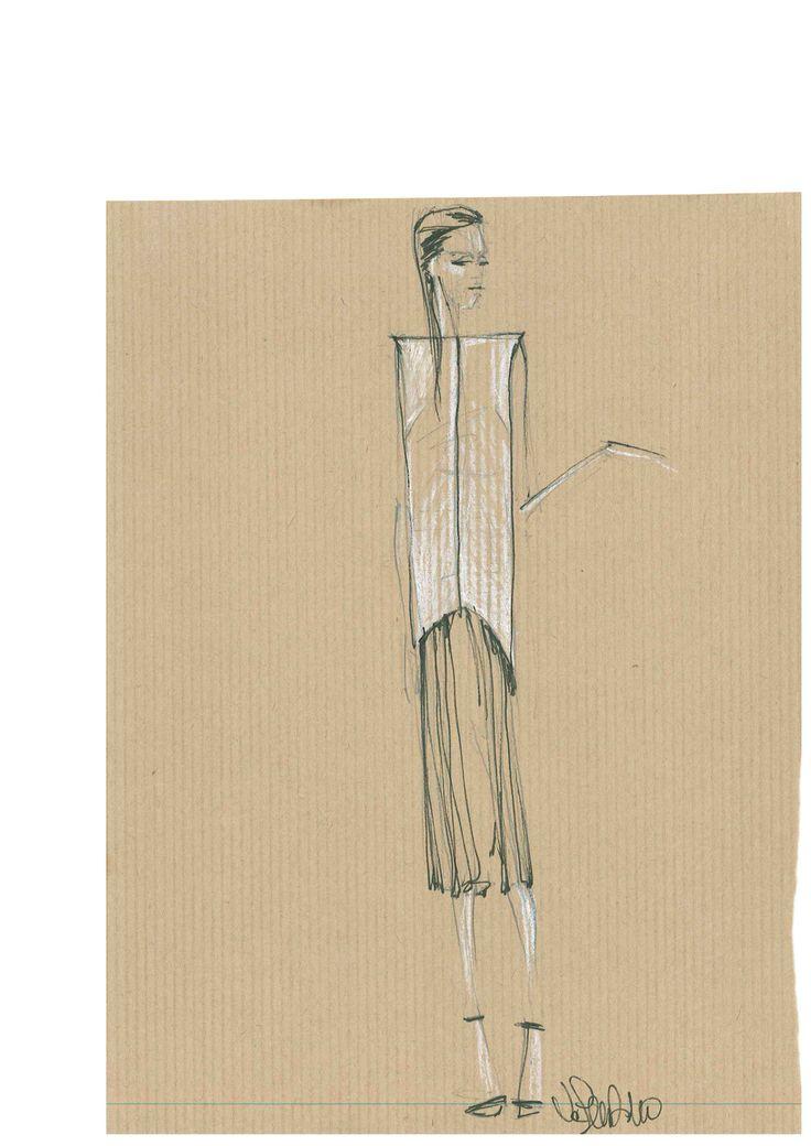 #Bozzetto di Valentino Fiammetta, #fashion #designer by #harim #accademiaeuromediterranea | Salone dello studente - Catania 2013 | Pinterest | Catania