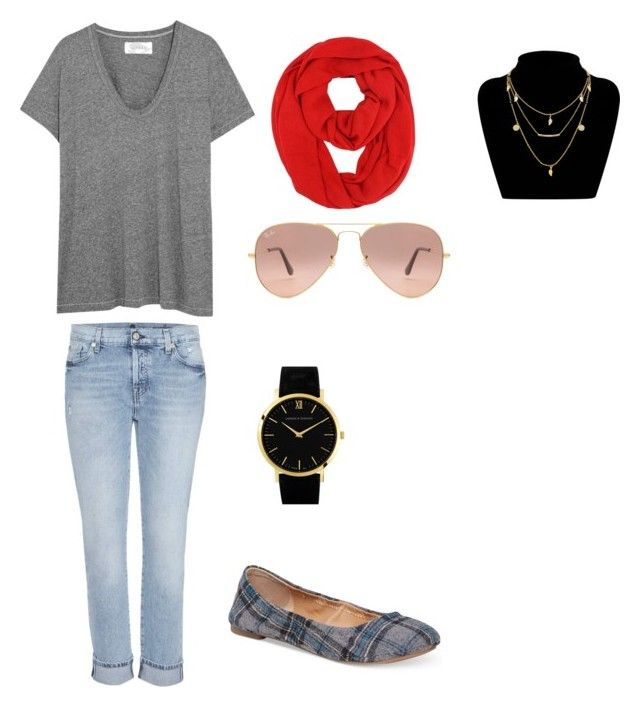 Sin título #6 by sil-mena on Polyvore featuring polyvore, fashion, style, The Great, 7 For All Mankind, Lucky Brand, Larsson & Jennings, Ray-Ban and clothing