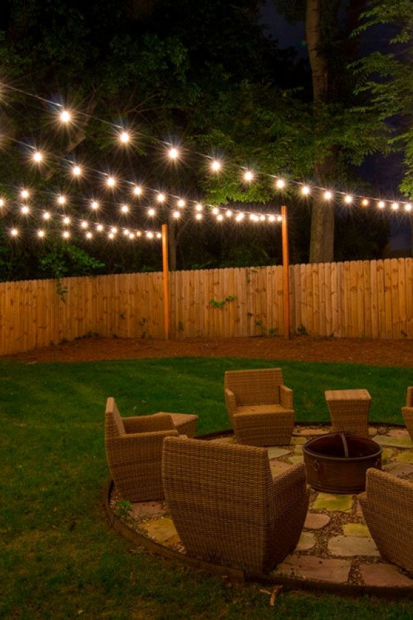 12 Beautiful Diy Outdoor Lighting Projects To Create For Your Outside Spaces Backyard Lighting Outdoor Lighting Design Diy Outdoor Lighting