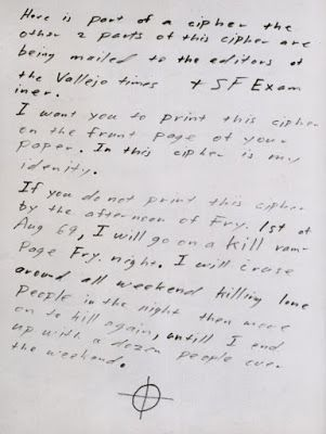Zodiac Killer, First Letter page 2