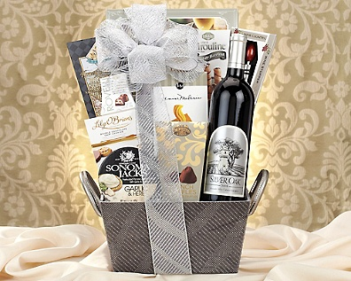 Silver Oak Wine Basket -- #NotABox  #UPSHappy