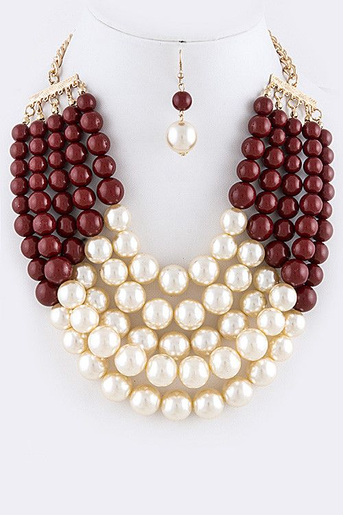 Mixed Pearl Necklace Set