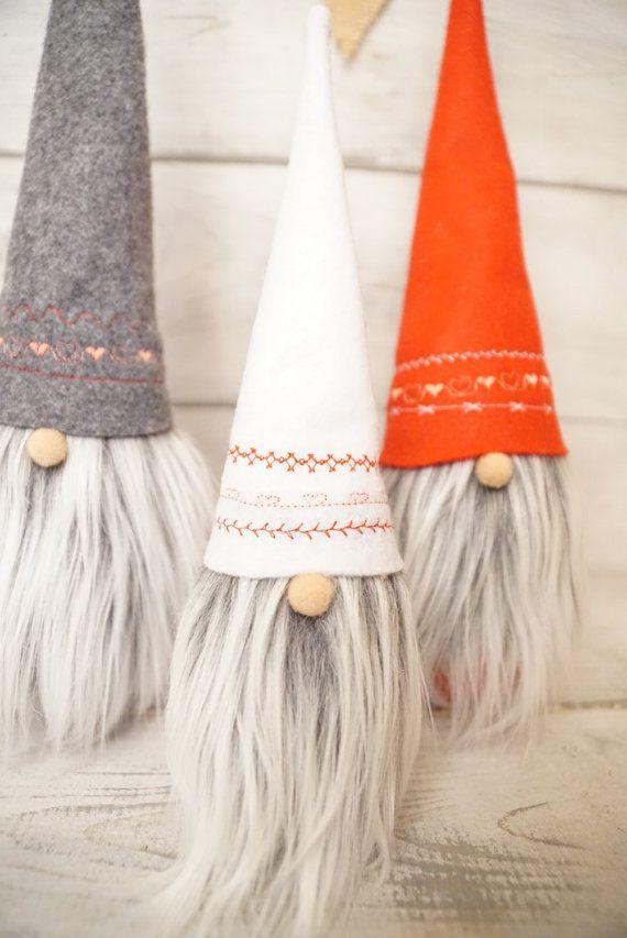 Scandinavian gnome Nordic gnome valentines by thelittlegreenbean