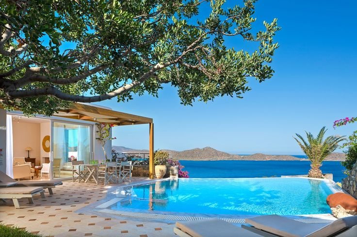 Holiday villa rental in Lasithi. Three bedroom Aegean pool villa. The three bedroom Aegean Pool Villas feature a luxurious ...