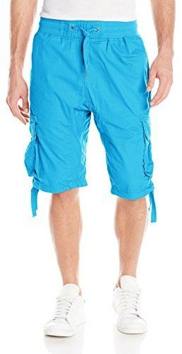 $13, Aquamarine Shorts: Southpole Jogger Shorts With Cargo Pockets In Basic Colors. Sold by Amazon.com. Click for more info: https://lookastic.com/men/shop_items/270851/redirect