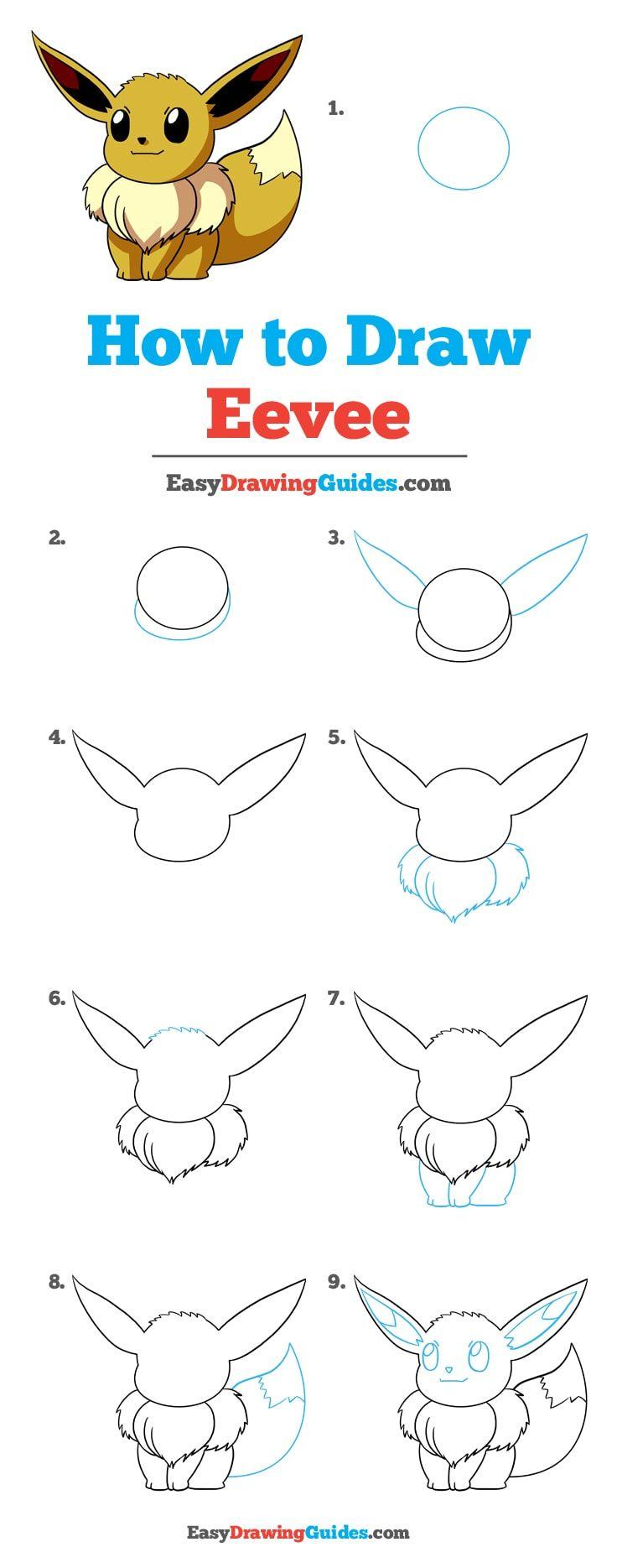 How to Draw Eevee from Pokémon