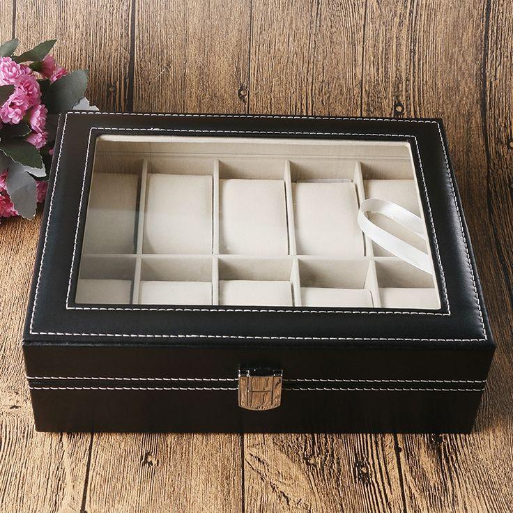31.98$  Buy here - https://alitems.com/g/1e8d114494b01f4c715516525dc3e8/?i=5&ulp=https%3A%2F%2Fwww.aliexpress.com%2Fitem%2FFashion-Display-Case-Organizer-Classical-Black-Leather-Box-For-Watch-Foam-Pad-High-Quality-Gift-Boxes%2F32706309161.html - Fashion Display Case Organizer Classical Black Leather Box For Watch Foam Pad High Quality Gift Boxes caja de reloj