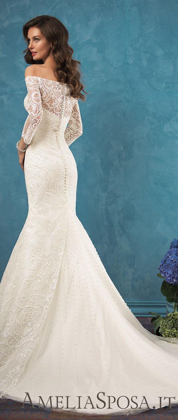 Amelia Sposa off the shoulder lace wedding dresses Celia