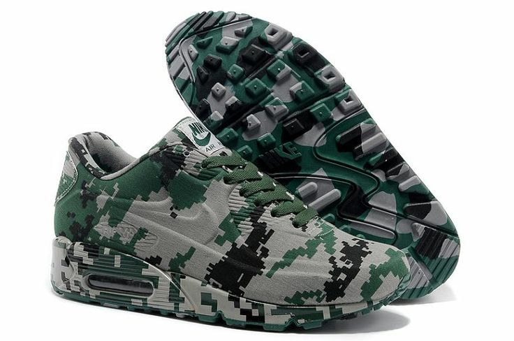 Nike Air Max 90 VT Mens Trainers Camouflage Green