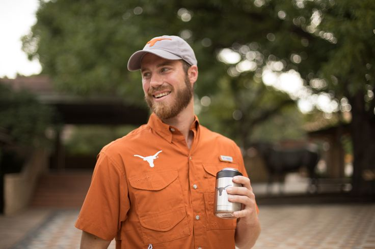 Tailgating on the 40 acres in September can get mighty hot. Get your officially licensed Texas Longhorns YETI Colster to keep your drinks cool. It is like a stainless steel bear hug for your sodas or longnecks. The Load-and-Lock Gasket secures your drink in place while the Colster's double-wall vacuum insulation keeps your beverage frosty longer. Plus, it has a No Sweat Design, which means no more damp or frostbitten hands. Free YETI brand can of air with every purchase!