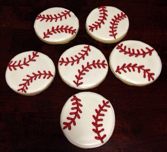 Personalized baseball cookies- 1 dozen on Etsy, $18.00