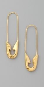 Love! Tom Binns Safety Pin Earrings!