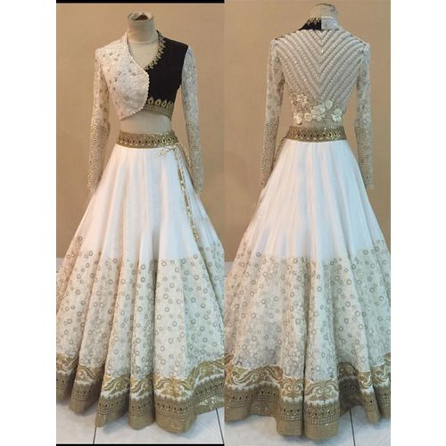 Shop Thankar White Embroidered Net & Georgette Lehenga by Thankar online. Largest collection of Latest Lehangas online. ✻ 100% Genuine Products ✻ Easy Returns ✻ Timely Delivery