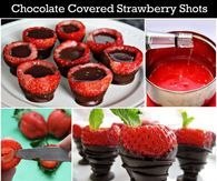 Chocolate Covered Strawberry Shots